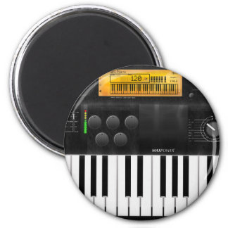Electronic Keyboard 2 Inch Round Magnet