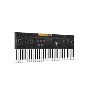 Electronic keyboard stretched canvas print