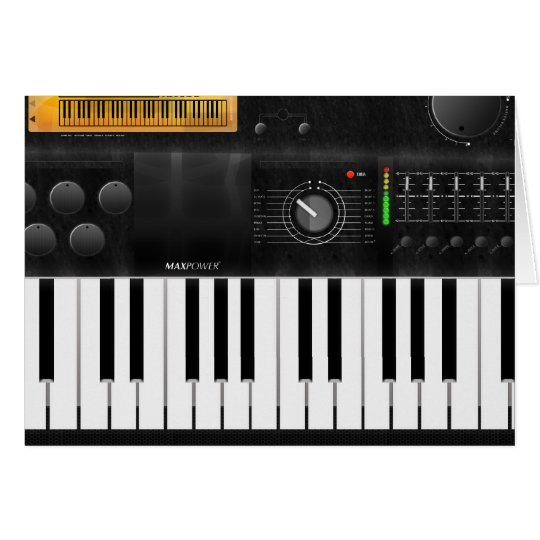 Electronic Keyboard Card