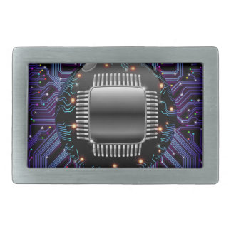Electronic Motherboard Circuit Belt Buckle