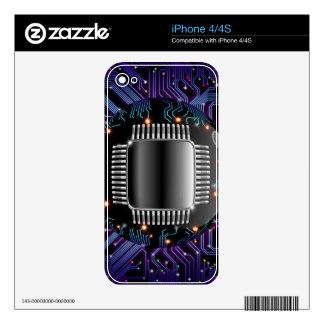 Electronic Motherboard Circuit iPhone 4 4S Skin Decal For The iPhone 4S