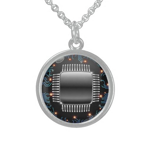 Electronic Motherboard Circuit Necklace