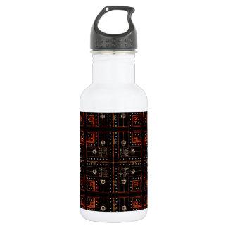 Electronic Pattern 18oz Water Bottle