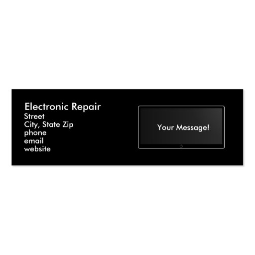 Electronic Repair Business Card Templates