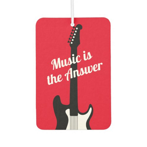 Electronic rock guitar custom music quote car air freshener