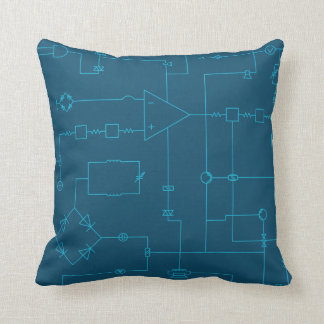 Electronic Schematic Design Throw Cushion
