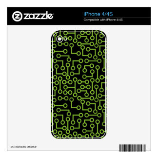Electronic Seamless Background iPhone 4S Skin