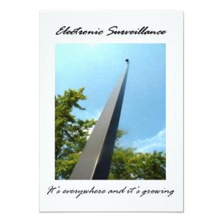 Electronic Surveillance 5x7 Paper Invitation Card