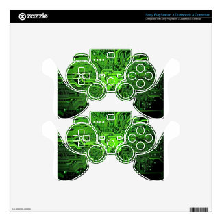 Electronic texture PS3 controller skin