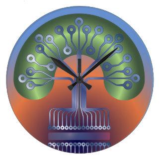 Electronic tree large clock