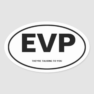 Electronic Voice Phenomona Oval Sticker
