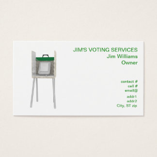 Electronic Voting Machine Business Card