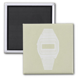 Electronic watch 2 inch square magnet