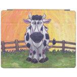 Electrónica de la vaca cubierta de iPad