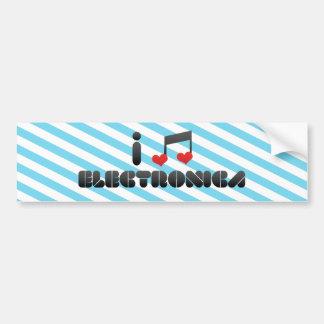 Electronica fan bumper stickers