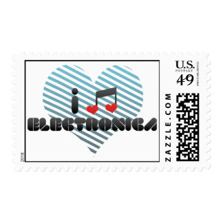 Electronica fan postage stamps