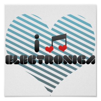 Electronica fan poster