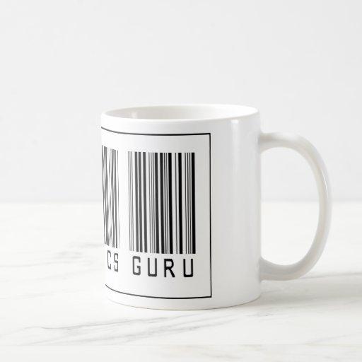 Electrónica Guru del código de barras Taza Básica Blanca