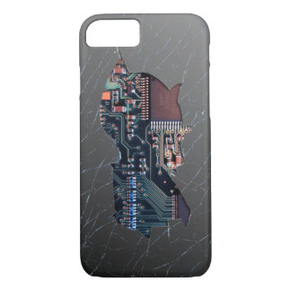 Electrónica quebrada funda iPhone 7