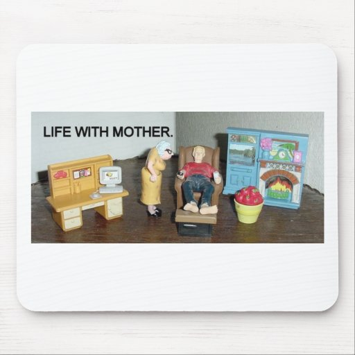 electronically charged, living with mother, bitch mouse pad