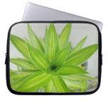 Electronics Bag Laptop Sleeves Green Flower Leaf