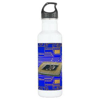 Electronics Circuit Board 24oz Water Bottle