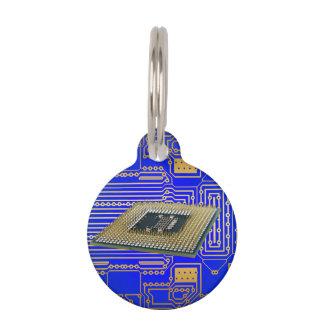 Electronics Circuit Board Pet Name Tag