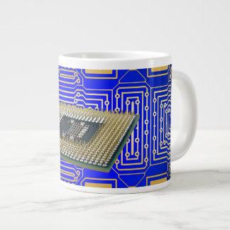 Electronics Circuit Board Jumbo Mugs