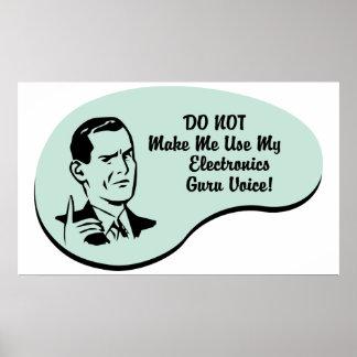 Electronics Guru Voice Poster