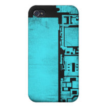 Electronics inside iPhone 4 / 4s case (blue)