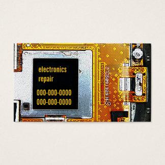 Electronics repair business card template