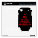 [Skull crossed bones] keep calm and schlemiel, schlimazel, hasenpfeffer incorporated!  Electronics Skins Samsung Galaxy S Decal