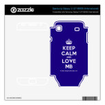 [Crown] keep calm and love mb  Electronics Skins Samsung Galaxy S Decal