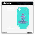 [Cupcake] keep calm and love cupcakes  Electronics Skins Samsung Galaxy S Decal