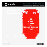 [Crown] keep calm it's bunga bunga time  Electronics Skins Samsung Galaxy S Decal
