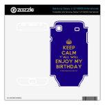 [Crown] keep calm y'all will enjoy my birthday  Electronics Skins Samsung Galaxy S Decal