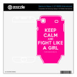 keep calm and fight like a girl  Electronics Skins Samsung Galaxy S Decal