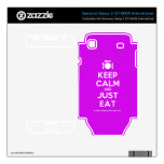 [Cutlery and plate] keep calm and just eat  Electronics Skins Samsung Galaxy S Decal