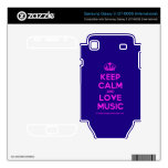[Dancing crown] keep calm and love music  Electronics Skins Samsung Galaxy S Decal