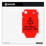 [Crown] keep calm my birthday august 3rd  Electronics Skins Samsung Galaxy S Decal