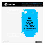 [Crown] keep calm and follow supsophie  Electronics Skins Samsung Galaxy S Decal