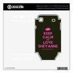[Two hearts] keep calm and love sheyanne  Electronics Skins Samsung Galaxy S Decal