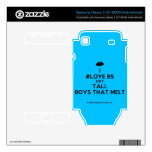 [Two hearts] i #love b5 hot tall boys that melt  Electronics Skins Samsung Galaxy S Decal