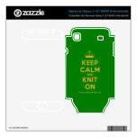 [Knitting crown] keep calm and knit on  Electronics Skins Samsung Galaxy S Decal
