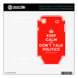 [Crown] keep calm and don't talk politics  Electronics Skins Samsung Galaxy S Decal