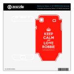 [Crown] keep calm and love robbie  Electronics Skins Samsung Galaxy S Decal