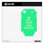 [Crown] bly kalm dis amper lang- naweek  Electronics Skins Samsung Galaxy S Decal