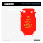 [Skull crossed bones] keep calm and love a aries  Electronics Skins Samsung Galaxy S Decal