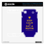 [Chef hat] keep calm and eat a muffin  Electronics Skins Samsung Galaxy S Decal