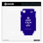 [Crown] keep calm and cry  Electronics Skins Samsung Galaxy S Decal